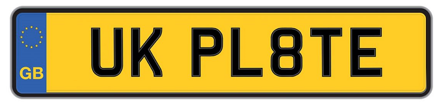 Uk plates foreign cars